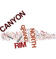 grand canyon north rim text background word cloud vector image vector image