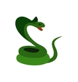 Green snake icon flat style vector image vector image