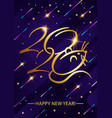 greeting card golden text - 2020 happy new year vector image
