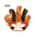 hand drawn venetian carnival clown mask vector image vector image