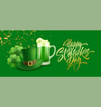 happy st patricks day greeting background for vector image