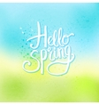 Hello Spring Concept on Abstract Cool Background vector image vector image