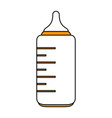 isolated baby bottle vector image vector image