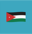 jordan flag icon in flat design vector image