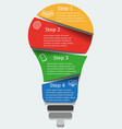 light bulb infographic template for diagra vector image vector image