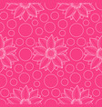 lotus and circles pink seamless pattern vector image vector image