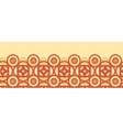 Magical celtic circles horizontal seamless pattern vector image