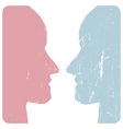 man and woman faces vector image vector image