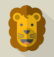 Modern Flat Design Lion Icon vector image