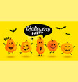 monster pumpkins invite to halloween party vector image vector image
