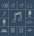 music outline icons set linear vector image vector image