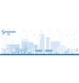 outline gurgaon india city skyline with blue vector image vector image
