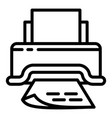 paper document printer icon outline style vector image vector image