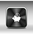 Piggy icon bank economy coin money piggy account s vector image