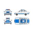 Police car 1 vector image vector image