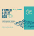 premium quality mackerel abstract fish vector image vector image