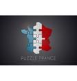 Puzzle France France logo design Map of France vector image