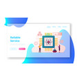 quantum computing landing page template vector image