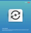 reload icon - blue sticker button vector image