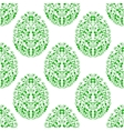 Seamless pattern from eggs with green floral vector image vector image