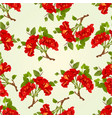 seamless texture branch red hibiscus vector image vector image