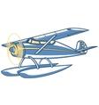 seaplane vector image vector image