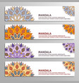 set of banners with mandala vector image