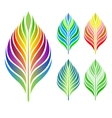 set of leaves collection vector image vector image