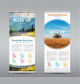 set of vertical roll up banners with round design vector image vector image