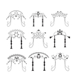 Set of vintage graphic Chuppah Religious Jewish vector image vector image