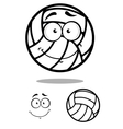 Shy volleyball ball character design elements vector image