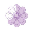 silhouette natural flower plant with petals vector image vector image