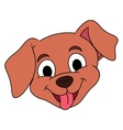 Smiling little puppy head vector image vector image