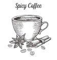 Spicy Coffee vector image vector image