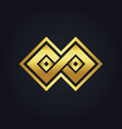 square infinity geometry gold logo vector image