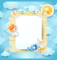 summer signboard on sky background vector image vector image