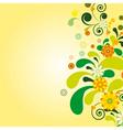 Sun floral background