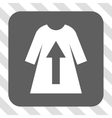 Take Off Female Dress Rounded Square Button vector image