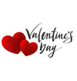 valentines day lettering text for greeting card vector image vector image