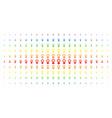 venus symbol spectrum halftone grid vector image vector image
