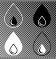 water drop icons set on isolated background vector image