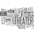 what is home theater text word cloud concept vector image vector image