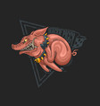 wild pig fast running racer vector image vector image