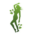 woman beauty and nature vector image vector image
