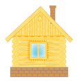 Wooden lodge on white vector image vector image