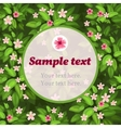 Spring flower green card with frame for text vector image
