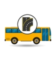 bus transport public type road vector image