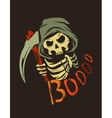 poster with death character vector image