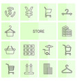 14 store icons vector image vector image