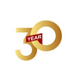 30 years anniversary template design vector image vector image